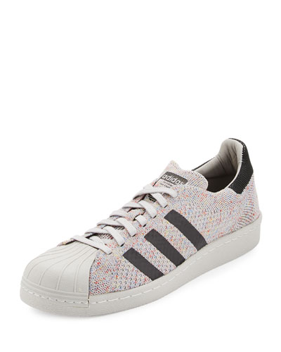 Men's Superstar 80s Primeknit Sneaker, White/Black