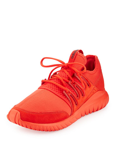 Tubular Radial Trainer Sneaker, Red