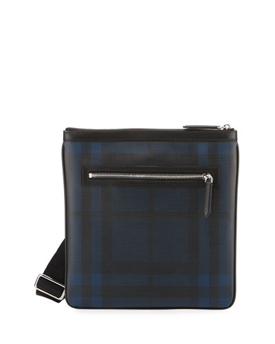 Beckley London Check Crossbody Bag, Blue/Black