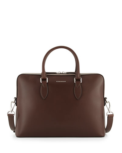Barrow Slim Leather Briefcase, Brown