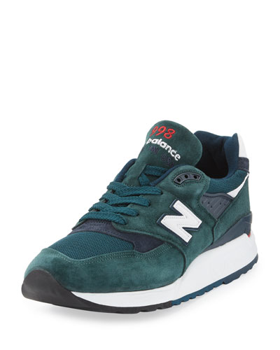 Age of Exploration 998 Colorblock Sneaker, Green/Navy
