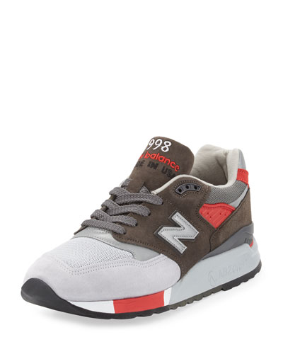 998 Age of Exploration Colorblock Sneaker, Gray/Red