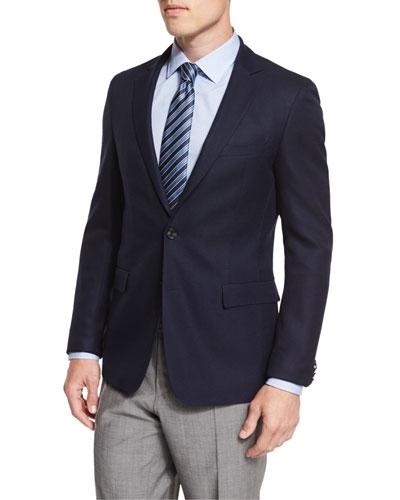 Roan Textured Modern-Fit Blazer, Navy