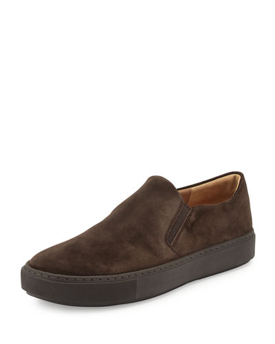 Levi Suede Slip-On Sneaker, Espresso