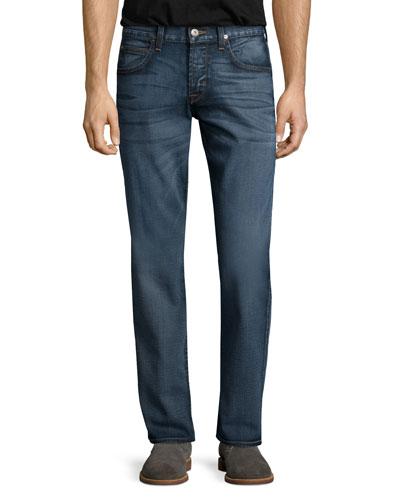 Byron Verdugo Straight-Leg Denim Jeans, Blue