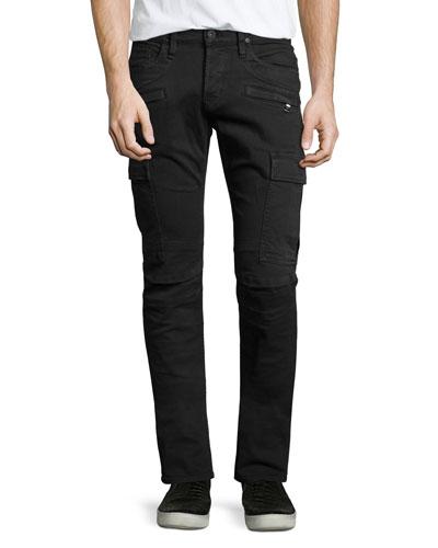 Greyson Cargo Jogger Jeans, Jet Black