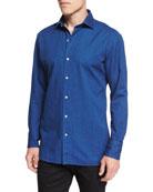 Long-Sleeve Lightweight Denim Shirt