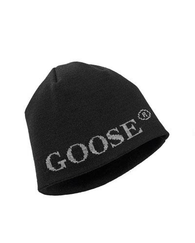 Boreal Logo Merino Wool Beanie Hat, Black