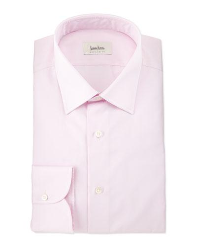 Solid Long-Sleeve Dress Shirt, Pink