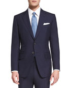 O'Connor Base Plain-Weave Sharkskin Two-Piece Suit, Bright Navy