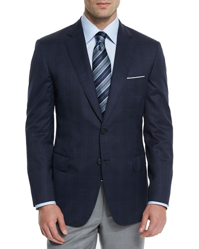 Colosseo Plaid Two-Button Sport Coat