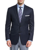 Colosseo Textured Two-Button Wool Blazer, Navy