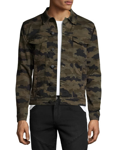 Gorn Trucker Camouflage Denim Jacket