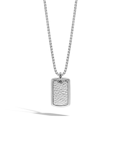 Men's Large Sterling Silver Dog Tag Necklace