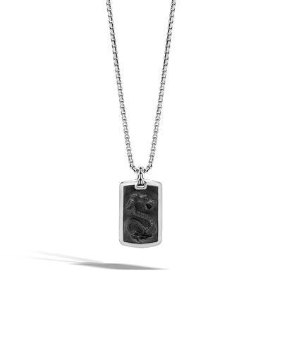 Men's Batu Dragon Dog Tag Necklace