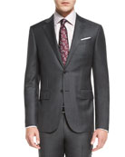 Plaid Trofeo Wool Two-Piece Suit, Gray