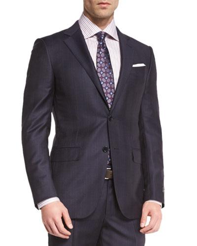 Ermenegildo Zegna Tonal Plaid Two-Piece Suit 1c5fd85298e6
