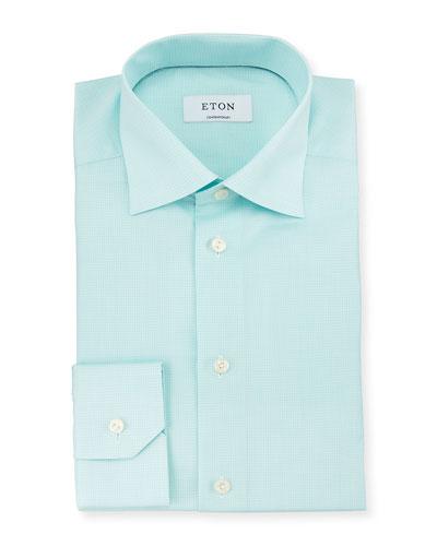 Contemporary-Fit Textured Woven Dress Shirt, Mint