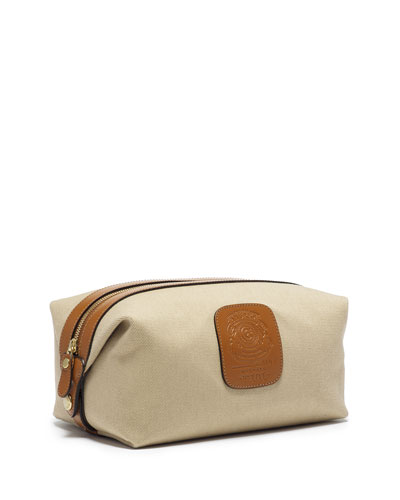Holdall No. 101 Twill Travel Toiletry Bag, Khaki Twill