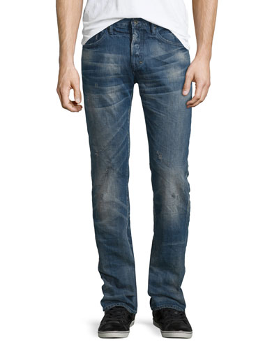 Demon Distressed Jeans, Blue