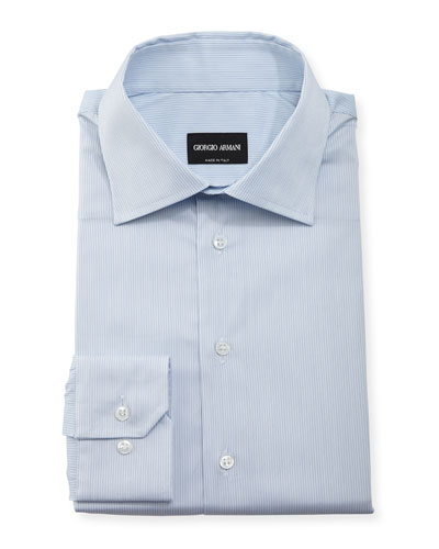 Micro-Stripe Long-Sleeve Dress Shirt