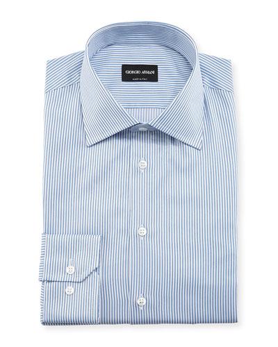 Shadow Bengal-Striped Long-Sleeve Dress Shirt