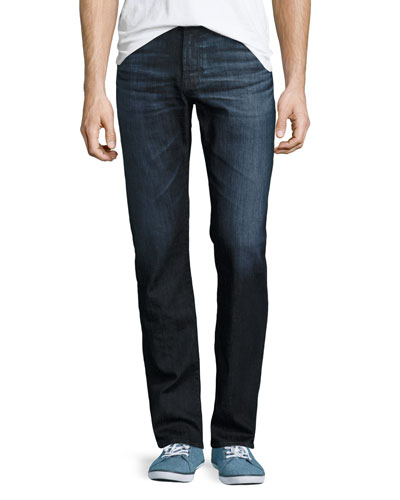 Protégé Hot Spring Straight-Leg Denim Jeans, Dark Indigo