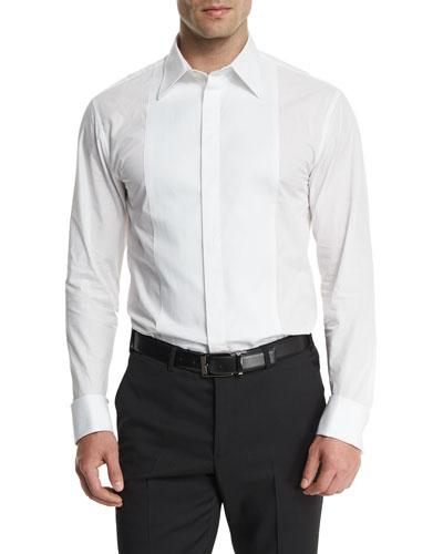 Full-Front Bib Tuxedo Shirt