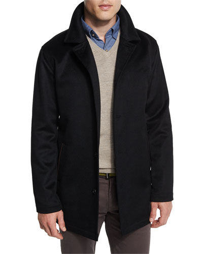 Madison Wool/Cashmere-Blend Trend-Fit Coat