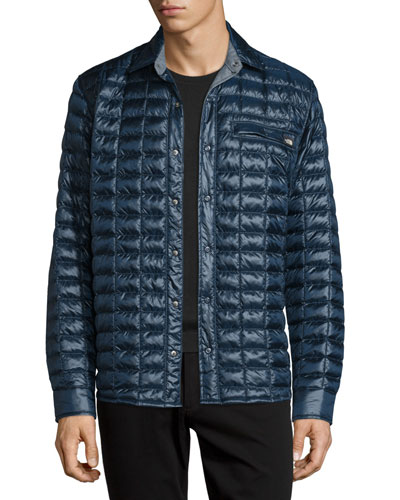 Reyes ThermoBall Quilted Shirt Jacket, Navy