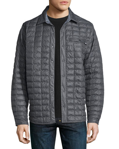 Reyes Thermoball Quilted Shirt Jacket, Dark Gray