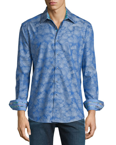 Palmdale Printed Long-Sleeve Sport Shirt