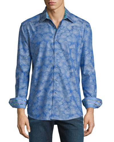 Palmdale Printed Long-Sleeve Sport Shirt