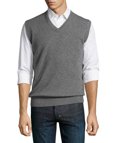 Cashmere V-Neck Sweater Vest