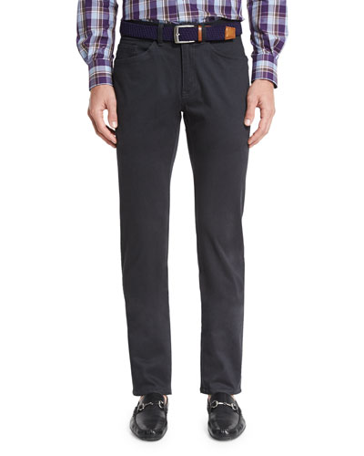 Bedford Five-Pocket Pants, Navy