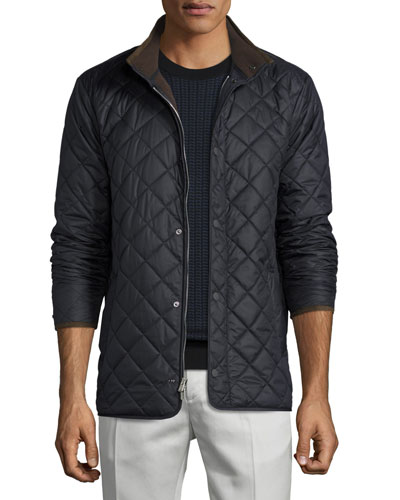 Norfolk Lightweight Quilted Jacket, Black