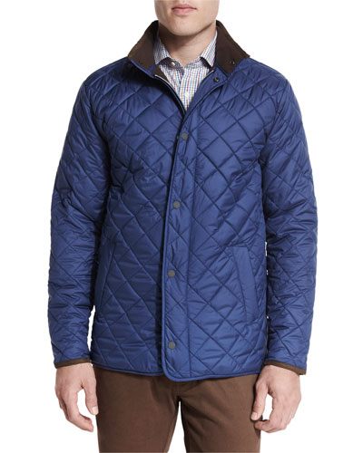 Norfolk Lightweight Quilted Jacket, Pacific