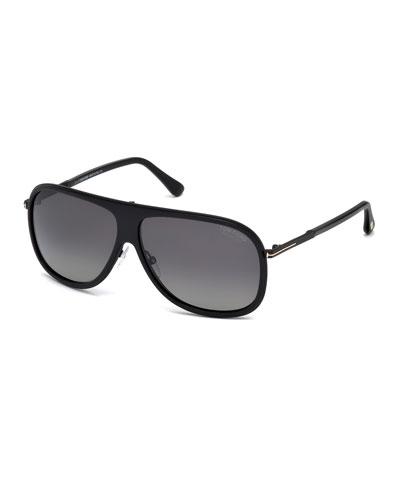 Chris Acetate Sunglasses, Black