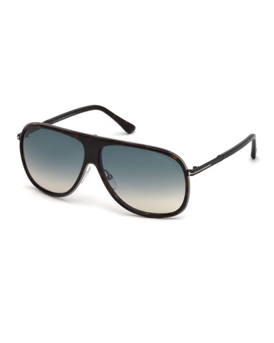Chris Acetate Sunglasses, Gunmetal