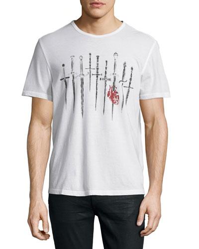 Daggers Graphic Short-Sleeve T-Shirt
