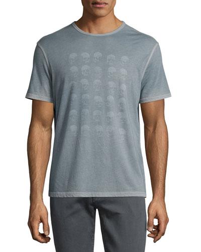 Skull Graphic Short-Sleeve T-Shirt, Indigo
