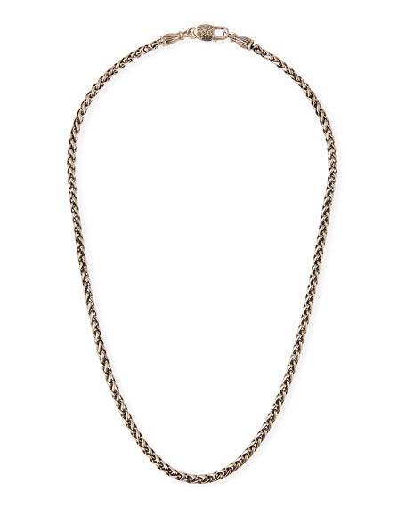 "Konstantino Men's Wheat Chain Necklace, 20""L"
