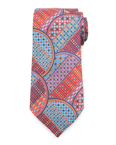 Quindici Geometric Circle Tie