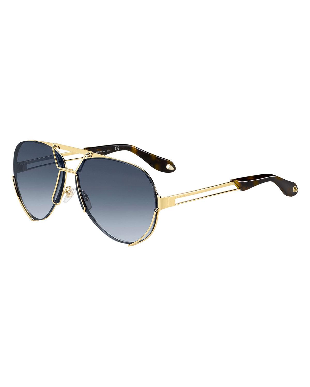 Double-Wire Aviator Sunglasses
