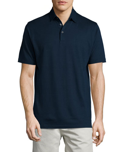 Collection Perfect Pique Polo Shirt, Barchetta Blue