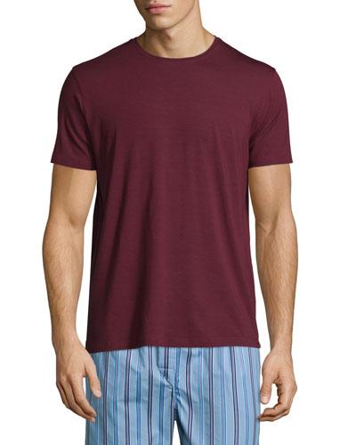 Short-Sleeve Jersey T-Shirt, Bordeaux