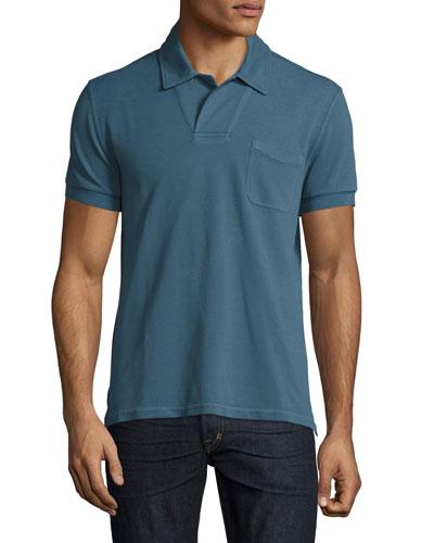 Short-Sleeve Polo Shirt, Cadet Teal