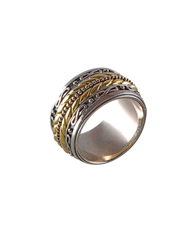18K Gold & Sterling Silver Band Ring