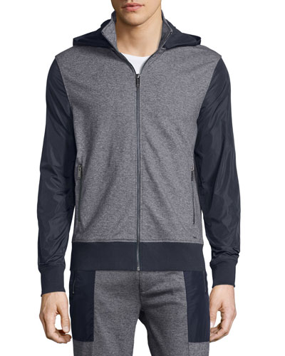 Jaspe Colorblock Zip-Up Hoodie