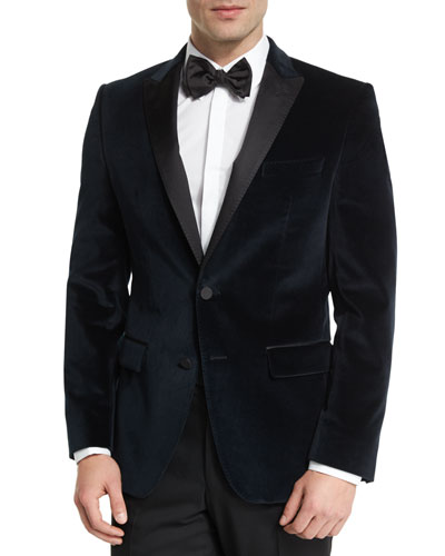 Haimon Velvet Dinner Jacket, Navy